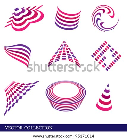 Set of vector abstract elements for web design. Eps 8 format.