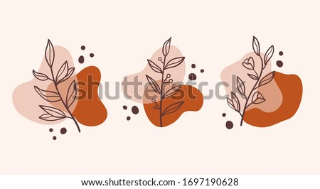 set of vector abstract elements