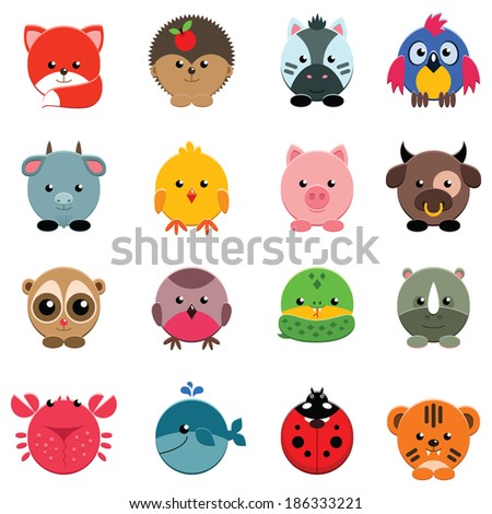set of vector animals isolated