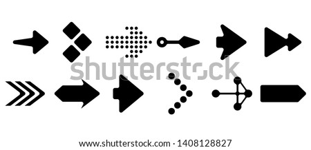 Set of vector arrows. Arrows Black vector on white background. Arrow vector icon. Arrow icon. Arrows Collection