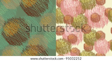 set of vector artistic seamless patterns