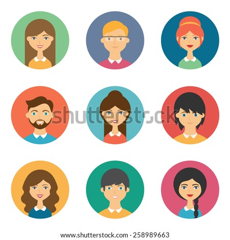 Set of vector avatars