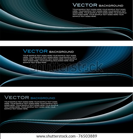 Set of Vector Backgrounds. Abstract Design.