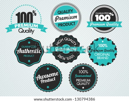 Set of vector badges