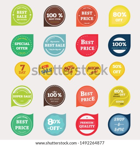 Set of vector badges and labels.Badges vintage style. #1492264877