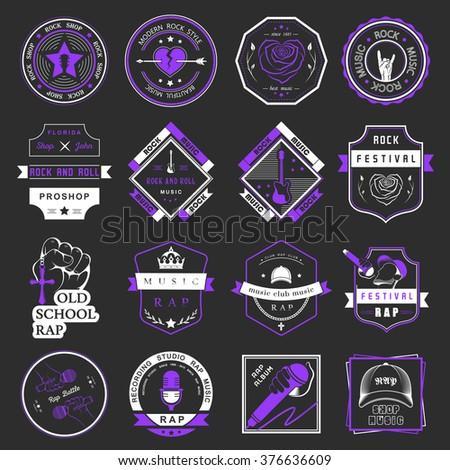 set of vector badges and logos
