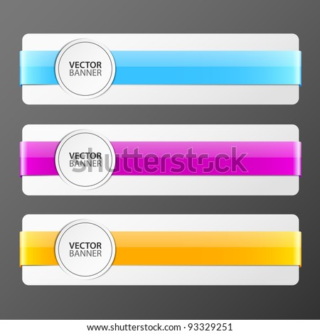 set of vector banners