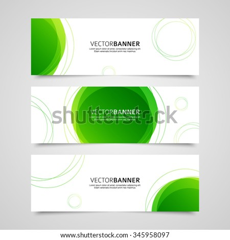 Set of vector banners design template with circle shapes background