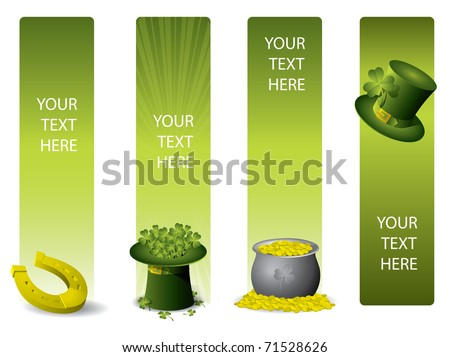 Set of vector banners for St. Patrick`s day Foto stock ©