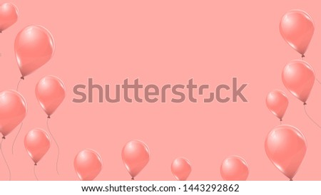 set of vector banners with pink
