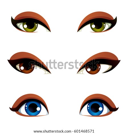 set of vector blue  brown and