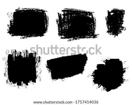 Set of vector brush stroke backgrounds. grunge backdrop, dirty banner, watercolor design and dirty texture