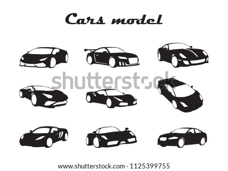 set of vector car layouts