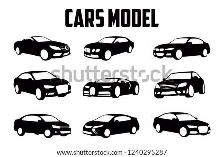 set of vector car models