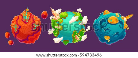 set of vector cartoon