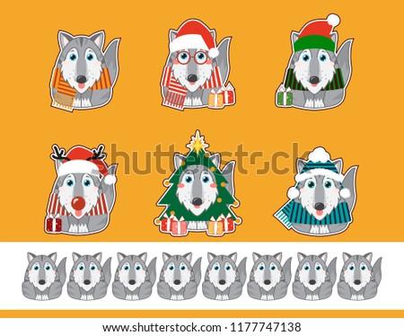 set of vector cartoon stickers