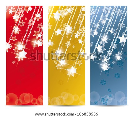 Set of vector Christmas banner and for the new year