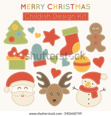 set of vector christmas design