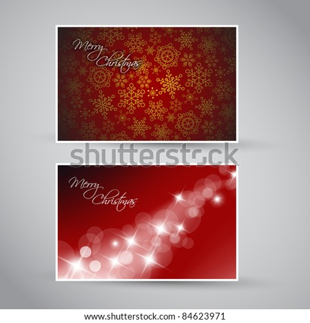Set of vector christmas / New Year banners (cards) 2012 - blue version