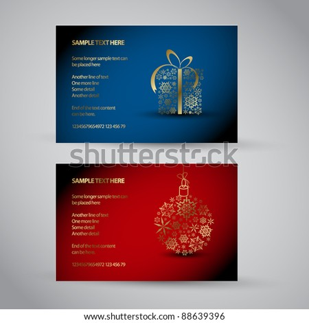 Set of vector christmas / New Year banners 2012 (gift and decoration)