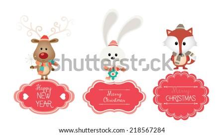 set of vector christmas vector