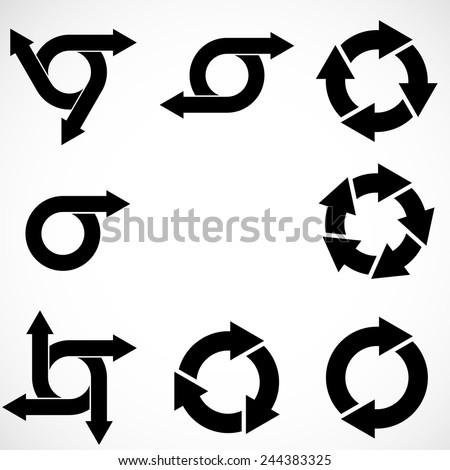 Set of Vector Circular Arrows .