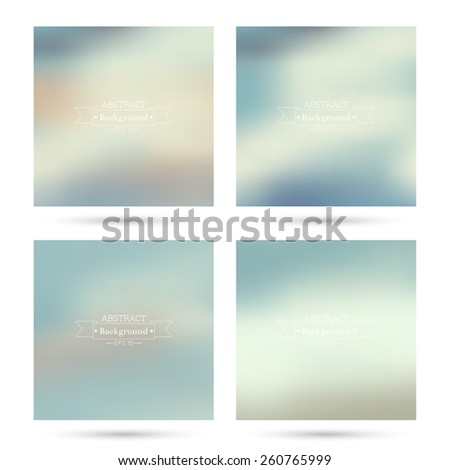 set of vector colorful abstract