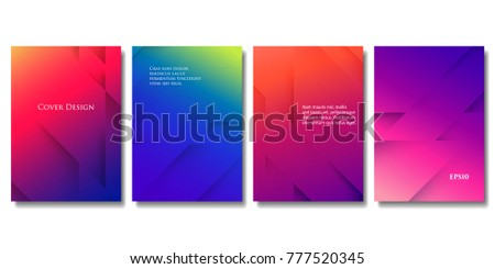 set of vector colorful brochure