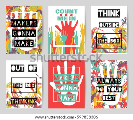 set of vector colorful
