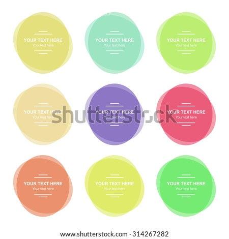 set of vector colorful round