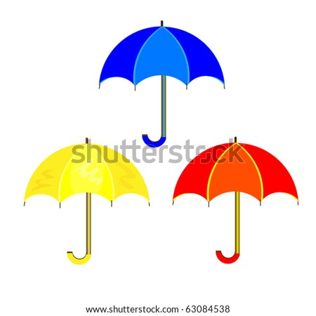set of Vector colorful umbrella