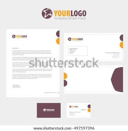 set of vector corporate identity templates