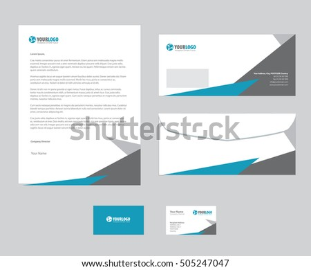 set of vector corporate identity templates modern business