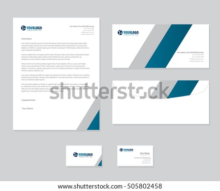 Set of vector corporate identity templates modern business set of vector corporate identity templates modern business stationery design friedricerecipe Images