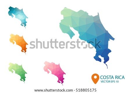 Free vector map of costa rica free vector art at vecteezy set of vector costa rica maps bright gradient map of country in low poly style gumiabroncs Images