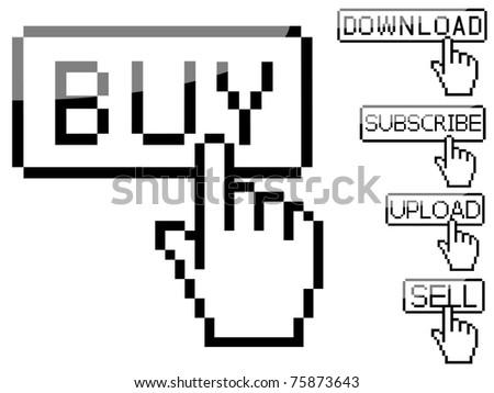 Set of Vector cursor buttons