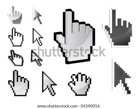 set of vector cursor icons