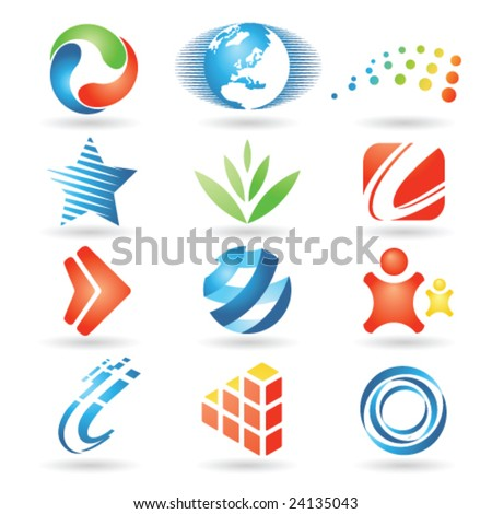 Set of vector design elements 5 - stock vector