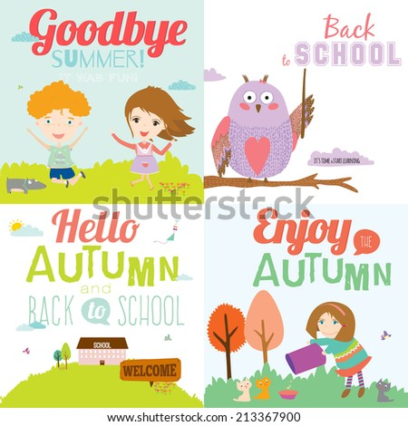 Set Of Vector Design Seamless Banners In A Cute And Cartoon Style With Place ...