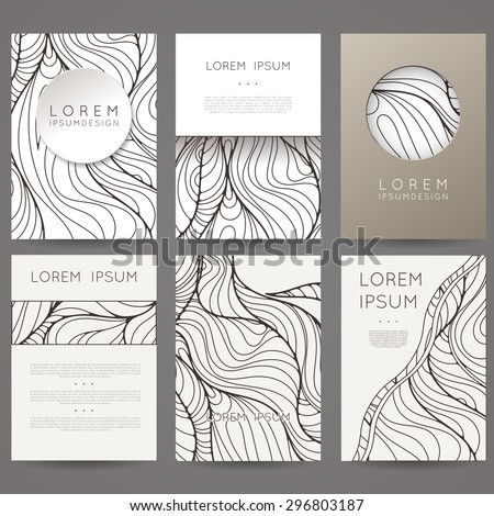 set of vector design templates