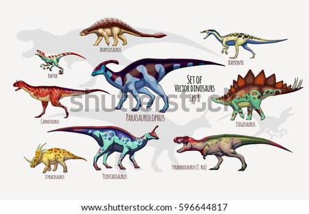 set of vector dinosaurs