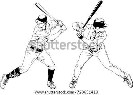 stock-vector-set-of-vector-drawings-on-the-theme-of-sport-baseball-drawn-ink-from-hands-without-a-background