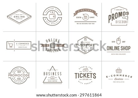 set of vector e commerce icons