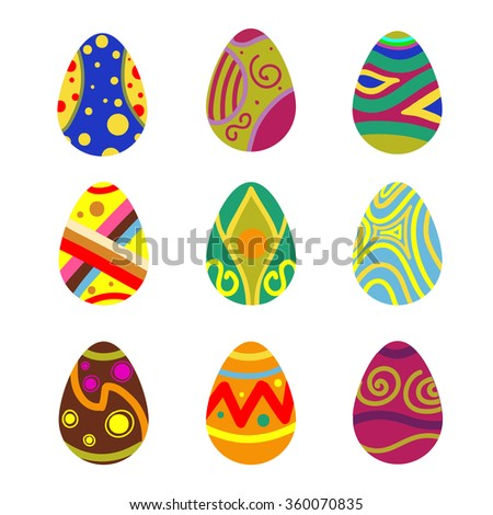 Set of vector Easter eggs #360070835