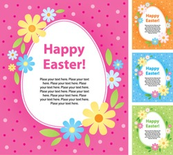 Set of vector Easter greeting cards