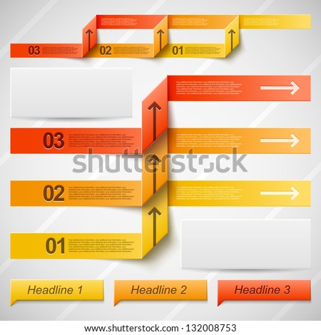 Infographic Ideas infographic colors : Set Of Vector Elements For Infographic In Warm Orange Colors ...