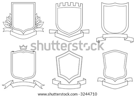 of vector emblems, crests,