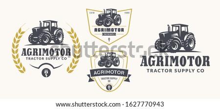 set of vector farm logo