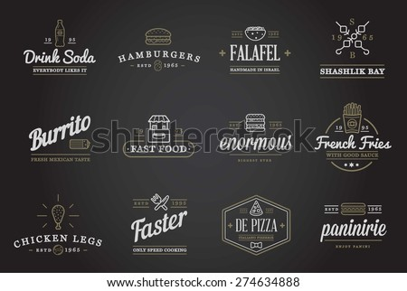 set of vector fastfood fast