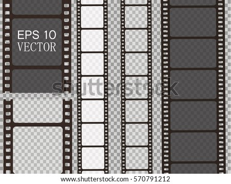 stock-vector-set-of-vector-film-strip-isolated-on-transparent-background